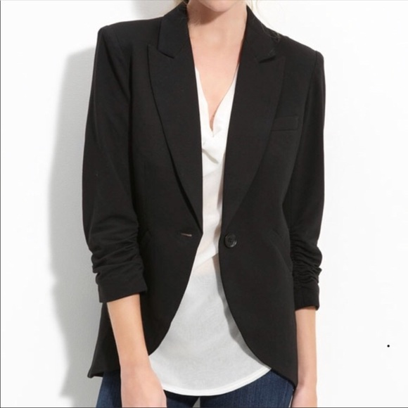 5a8b5744757 Gibson Jackets   Blazers - Gibson Nordstrom Black cotton 3 4 sleeve blazer